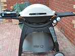 Extra large Webber BBQ to cook on as well as gas burner hotplates