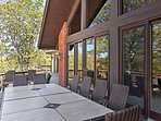 You'll love spending time with the whole group on the expansive deck.