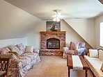Play games and catch up with friends and family in the upstairs living room.