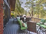 Up to 10 guests can spend their days on the deck with scenic views.