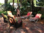 lounge chair, recliners and fire chimmney