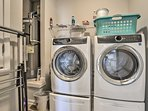 Keep your adventure gear fresh using the brand new in-unit laundry machines.