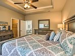 The master suite offers a cloud-like king and en-suite bathroom!