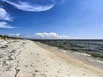 Experience the white sand beaches of Saint Joseph Bay!