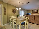 Enjoy a home-cooked meal at the 6-person table.