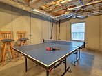 Play a game of ping-pong in the basement!