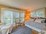 The sunroom was recently converted into a third bedroom.