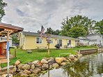Lakefront Waterford Township Home w/ Tiki Bar!