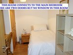 The single room, the connecting door can be left open to create one big family bedroom.