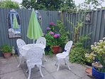 Our sunny enclosed garden.