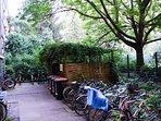 Bike park place inside the building
