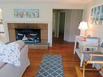 Open living and dining. View to the hall where the bedrooms are - 14 Capri Lane Chatham Cape Cod New England Vacation...