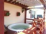Upstairs patio hot tub