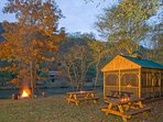 Picnic Area and Fire Pit Along the Toccoa River