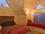 Upper Level Queen Suite with Twin Window Bed
