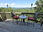 Views as far as the eye can see over the BlueRidge Mountains into the Great Smoky Mountains