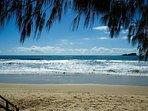Mudjimba Beach with Old Woman Island in background