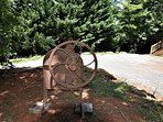 Antique Corn Sheller (Yard Art)