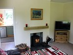 Cosy lounge with 42' smart TV with Netflix and catch up TV.  Wood burner for the cooler months