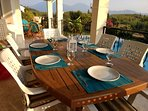 You can't beat al fresco dining with views like this.