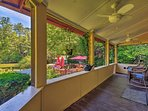 Sip your morning coffee on the porch.