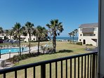 View from balcony - overlooks pool and ocean