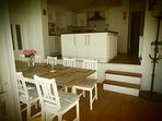 Large Split Level Kitchen / Diner - space to seat 10 guests