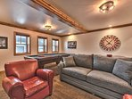 Comfortable Seating including New Sofa Sleeper and Leather Chairs