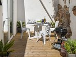Outside Dining Table and Barbecue