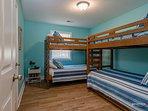 Aquatic Escape double-bunk twin bedroom 7