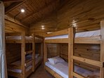 Bedroom with dormitory beds