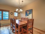 A 6-person dining table is perfect for family dinners.