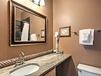 The condo is equipped with 2 full bathrooms.