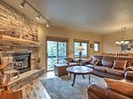 This cozy abode includes a gas fireplace, 2 flat-screen cable TVs, & free WiFi.