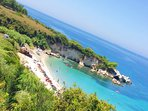 Amazing beaches near Lassi - it is worth to rent a car and expose Kefalonia