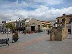 Plaza del pueblo de Fuente de Piedra
