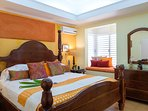 Master bed room. Ariconditioned with adjoining bath room