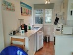 Open plan Kitchen with all your utensils provided.