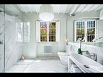 Master Bathroom with walk-in shower (ensuite to Master Bedroom)