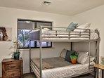 Bedroom #4 with 2 full memory foam bunk beds