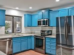 Remodeled Kitchen, fully stocked, with granite counters, LG Appliances,