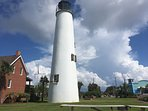Ten minute drive to the lighthouse on St George Island.
