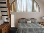 Master Bedroom with King Bed, walk in closet, private balcony