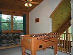 Loft with FoosBall Table and Futon