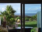 view through the lounge windows
