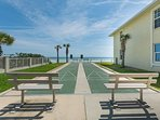 Shuffleboard courts with a view of the ocean!!
