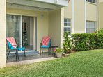 Enjoy the sunny Florida weather from the patio.