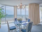 Oceanfront dining room with seating for 6.