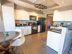 The kitchen is fully stocked and easily accommodates parties up to 10 guests.