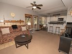 Adjacent to the kitchen are the Family Room, breakfast nook and deck access.